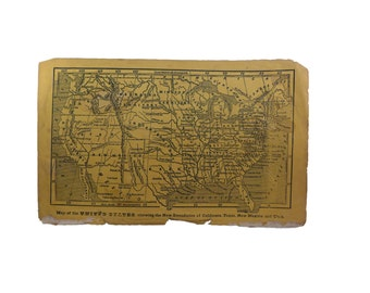 Pre Gadsden Purchase United States Map - 33 States & 3 Territories