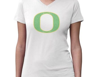 CHILD or ADULT SIZE  Oregon Ducks Bling Crystal Rhinestone Shirt