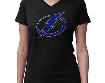 CHILD or ADULT SIZE  Tampa Bay Lightening Bling Crystal Rhinestone Shirt