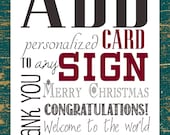 Add a card to ANY wooden sign!