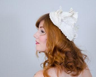1950s vintage hat / straw hat / Sara Sue