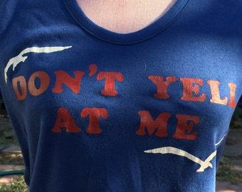 Blue cap sleeve statement t-shirt