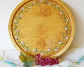"10"" Wooden Lazy Susan Tray, Handpainted"
