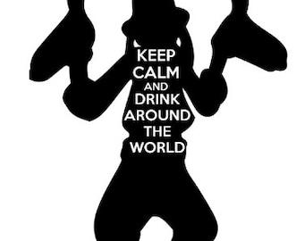 Drink Around the World- Tshirt design Goofy