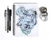 Creative Minds Notebook, A5 hardback Journal, Notebook, Notepad, Chatty Nora, Gift for crafter, Artist Gift