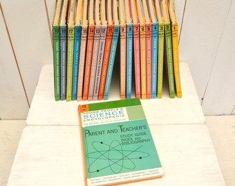 Young Peoples Science Encyclopedia Set 60s Vintage Mid Century Color Illustrated Books Complete