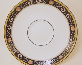 Vintage Pair of Wedgwood Runnymede English Fine Bone China Bread and Butter Plates, English Fine Bone China