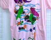 Mermaid Lagoon Hand Painted Plus-size CoverUp or Sleepshirt