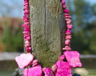 Western Rodeo Island Cowgirl Handmade Artisan Necklace