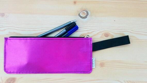 Leather pencil case,leather pencilcase,leather pouch,pink leather,pink pencil case,leather case,leather coin purse,neon pink case,pink case