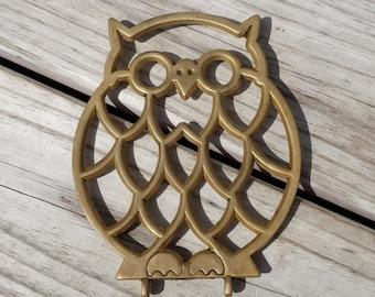 Vintage Owl Trivet Hot Plate