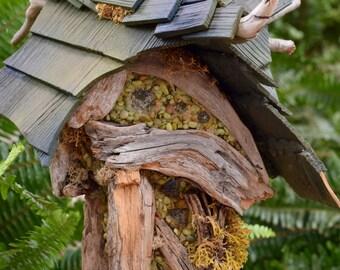 Fairy Cottage, Fairy House,  Door opens, Removable roof , Miniature house, Garden art, Beach house