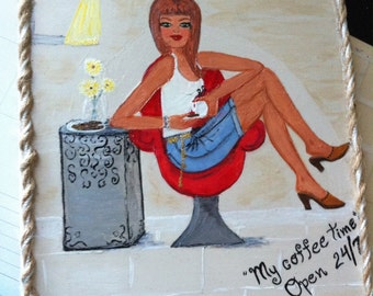 Tile Diva: Coffee Time - Painted Tile