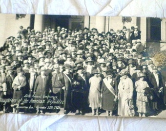 Vintage Panoramic Photo 1920's Original Photograph 26th Annual Conference  D. A. R Anderson IN October 13 1926