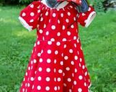 Minnie-Inspired Children's Dress- Sizes 6 Months to 8 years