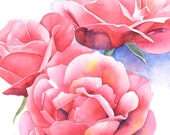 Rose original watercolour painting R3315 - Rose watercolour - original rose painting - original flower painting original watercolour