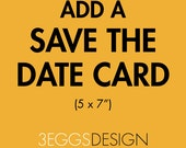Add a Save The Date Card