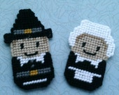 SALE Set of 2 Pilgrim Magnet Set
