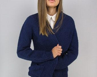 Vintage 70s Nubby Cardigan, Boyfriend Cardigan, Slouchy, Comfy, Grandpa Cardigan, Sweater Cardigan Δ fits sizes: xs / sm / md