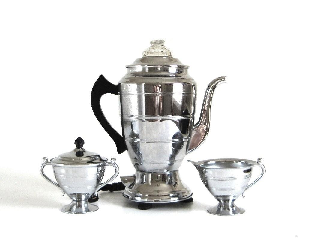 Forman Family Coffee Percolator Serving Set Antique Samovar
