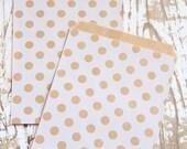 10 Polka Dot White Paper Bags - 10 Sacchettini di carta a pois