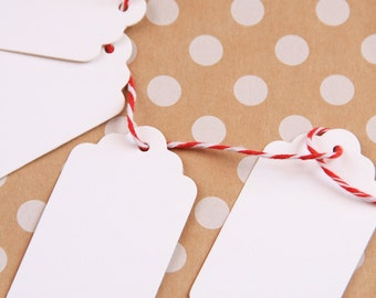 10 Tags Bianche - 10 White Gift Tags