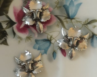 No. 3 Coveted Orchid Flower Heirloom Silver (1 pc)