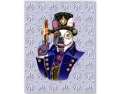 Steampunk Animal Print - French Bulldog Victorian Print