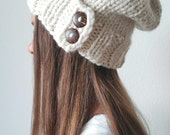 Buttoned knit beanie - The WALES - More colors available