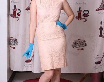 1960's Bobbie Brooks Lace Audrey Hepburn Style Cocktail Dress Size XS