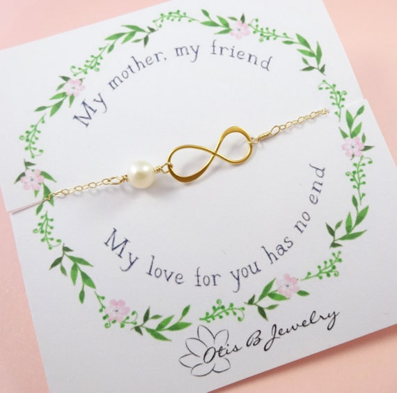 Mother of the bride or groom gift, infinity bracelets, mother of the groom gift,  Mother's jewelry, mother in law, Otis B, wedding jewelry