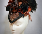 Ladies Victorian  gothic macabre Electric Chair Hat Little Sparky $215.00 AT vintagedancer.com