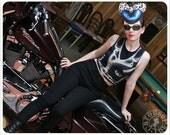 womens tops -  Tank top - Crop tshirt - Top - Bra Top  -  Black -  runners top - MOTO