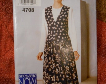Butterick See and Sew 4708 Dress Two Piece Look Size 18 - 20 - 22