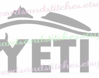 Yeti Fish SVG - Digital Cutting File - Yeti Cup SVG - Instant Download - Vector File - Graphic Design - Svg, Dxf, Jpg, Eps, Png