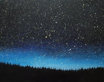 Night Sky Painting - 12 x 24