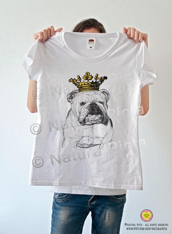 English bulldog crowned t shirt bulldog women by naturapicta T shirts for english bulldogs
