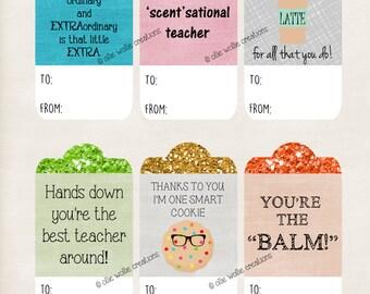 Teacher Appreciation, Gift Tags