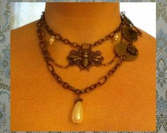 Victorian Steampunk Choker Necklace