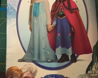 Elsa and Anna dress pattern Simplicity S0733 Sz 3-8
