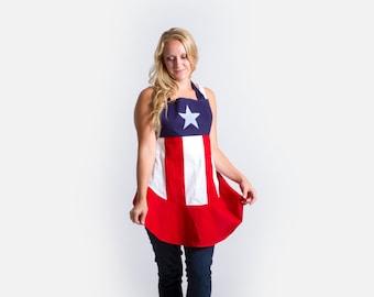 Captain America-n Flag Apron