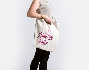 I Know My Value | Agent Carter Tote Bag