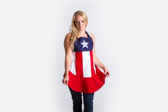 Captain America-n Flag Apron