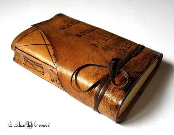 Personalized Leather Journal Custom Monogram Brown Leather