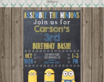 Minion Invitation - Minion Birthday Party