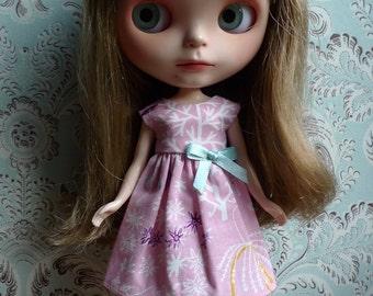 Pink Sea Creatures Blythe Dress | Pullip Dress