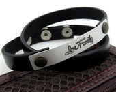 Anniversary Gift - Wrap Mens Bracelet - Personalized Mens Bracelet - Custom Bracelet for Men - Engraved Leather Bracelet for Him. Mens Gifts
