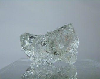 Collectible Water Clear Natural Topaz Display Crystal Brazilian Crystal Amazing Etching 50 grams Display or Facet Mineral DanPickedMinerals