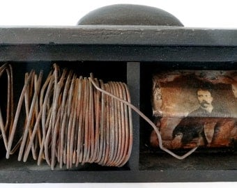 """Vintage Box Assemblage:  """"Wired"""""""