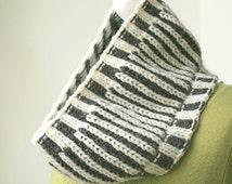 Cowl Knitting Pattern - Fishermans Rib Cowl - PDF